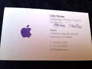 アップル社員の名刺